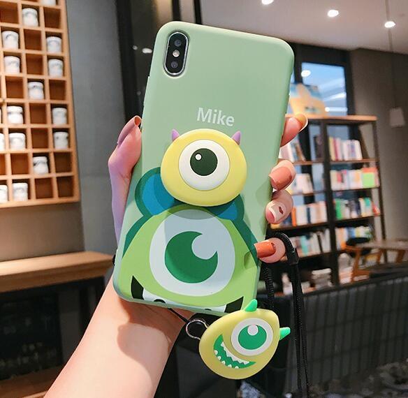 卡通全包防摔蘋果11pro Max手機殼  日韓簡約IPhone 11pro手機套 個性創意iphone 11保護套