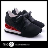內增高球鞋 水鑽 厚底 歐美時尚真絲運動休閒鞋 mo.oh (歐美鞋款)