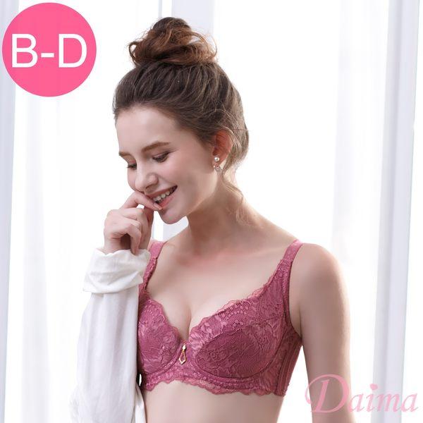 強力穩固(B-D)輕薄舒適透氣軟杯單件 內衣 _玫紅【Daima黛瑪】9168