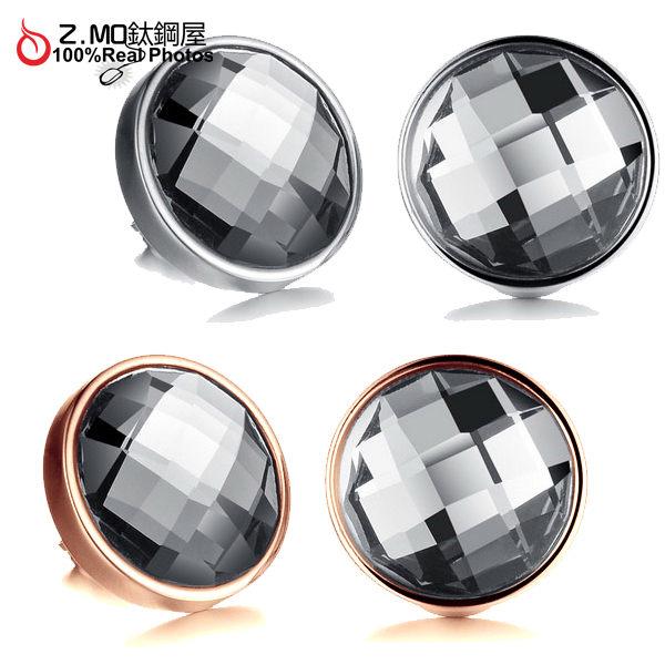 [Z-MO鈦鋼屋]奧地利水晶鑽/復古款式圓形耳環/鋼針抗過敏/一對價【EKS282】