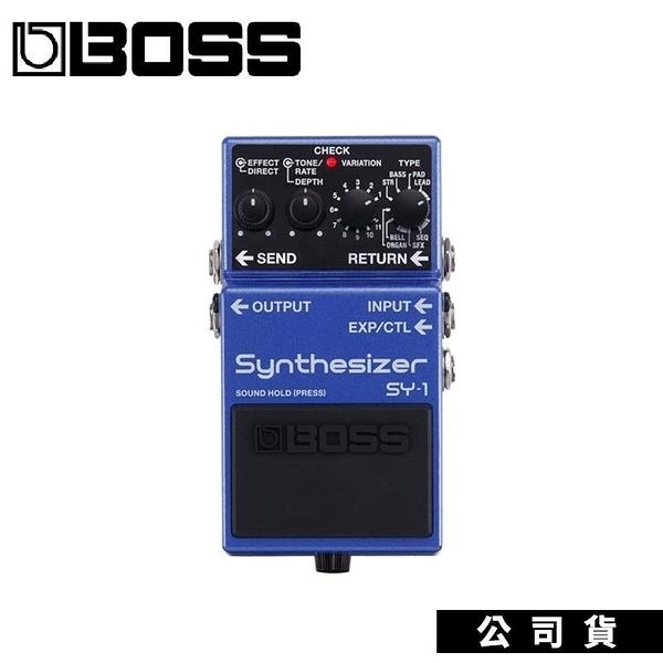 【南紡購物中心】電吉他效果器 BOSS SY1 Synthsizer 富表現力的合成器音色隨選即用