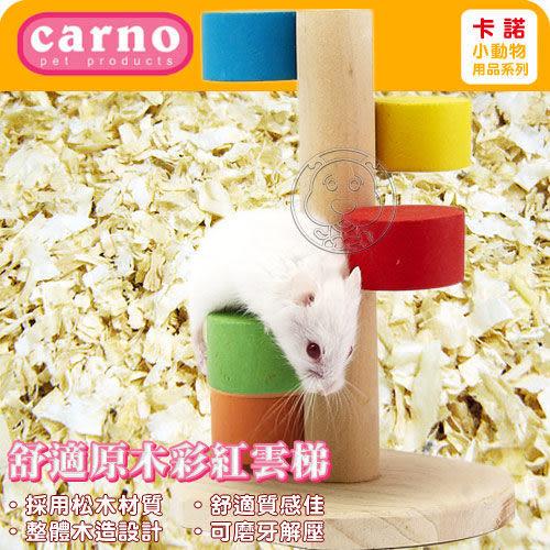 【 zoo寵物商城 】Carno 卡諾《倉鼠舒適原木彩紅雲梯》多層設計,玩法更多樣 (45-0312)