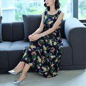 促銷2千免運洋裝連身裙棉綢碎花長款連身裙女韓版人棉中長款修身印花裙5501FZ2F102衣人有約