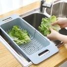 可伸縮瀝水架 廚房水槽瀝水架 蔬菜收納架...