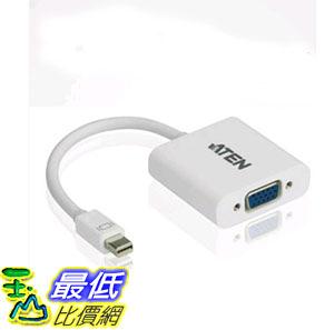 [107玉山最低比價網] ATEN宏正mini DP轉VGA轉換器 蘋果MacBook雷電轉接線 VC920