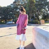 小中大碼M-4XL秋季韓版大碼女裝寬松顯瘦針織上衣吊帶裙兩件套套裝4F120韓依紡
