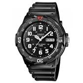 【CASIO】潛水風DIVER LOOK系列錶-黑X白數字(MRW-200H-1B)
