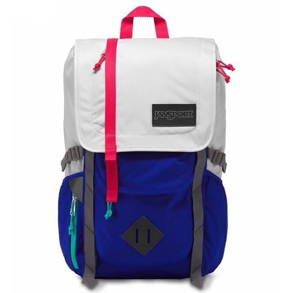 【南紡購物中心】【JANSPORT】HATCHET系列後背包 -灰白/湛藍(JS-42010)