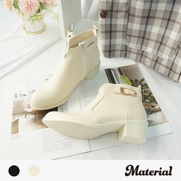 短靴 金屬側釦尖頭短靴 MA女鞋 T7827