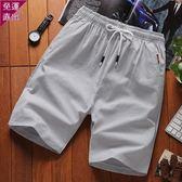 薄款牛仔短褲男士寬鬆大尺碼中褲耐臟  快速出貨