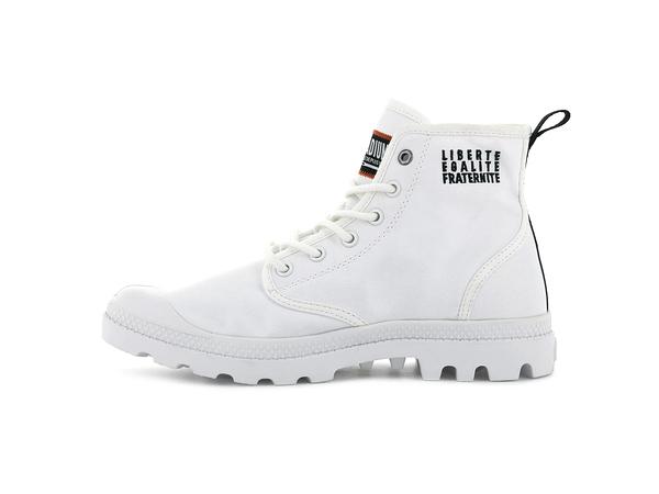 PALLADIUM PAMPA HI CHANGE 白色 靴型 帆布 串標 高筒 男女 76648116【FEEL 9S】