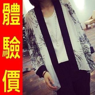 和服外套-日式披肩雪紡七分袖防曬和風女罩衫6款68af1[時尚巴黎]