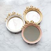 618好康鉅惠超萌可愛蝴蝶結做舊復古迷你臺式化妝小圓鏡