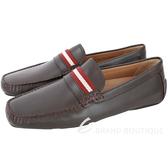 BALLY WABLER 經典織帶小牛皮樂褔鞋(咖啡色) 1740258-07