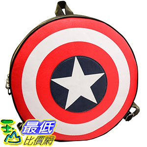 [美國直購] 美國隊長書包 easygoal-Captain America s shield Backpack School Bag Unisex(Large/Small)