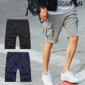 ToGetheR+【55568】舒適百搭款側邊大口袋休閒棉質短褲(三色)