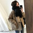 【限時下殺79折】好康推薦冬季韓國寬鬆淺駝色毛呢外套女 短版小個子學生呢子大衣 加厚