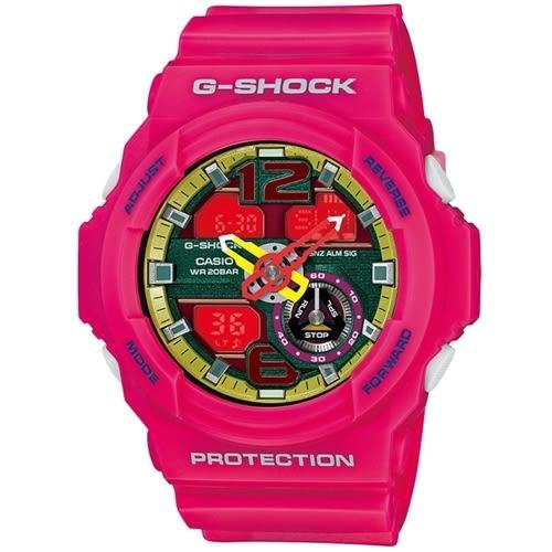 CASIO/G-SHOCK/人氣指針雙顯運動錶/黑/GA-310-4ADR