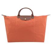 茱麗葉精品【全新現貨】Longchamp Le Pliage 折疊短肩帶手提旅用包.橙橘 #1624