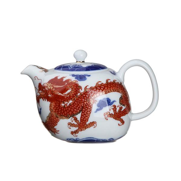 林春香手繪紅龍-茶壺(200ml)