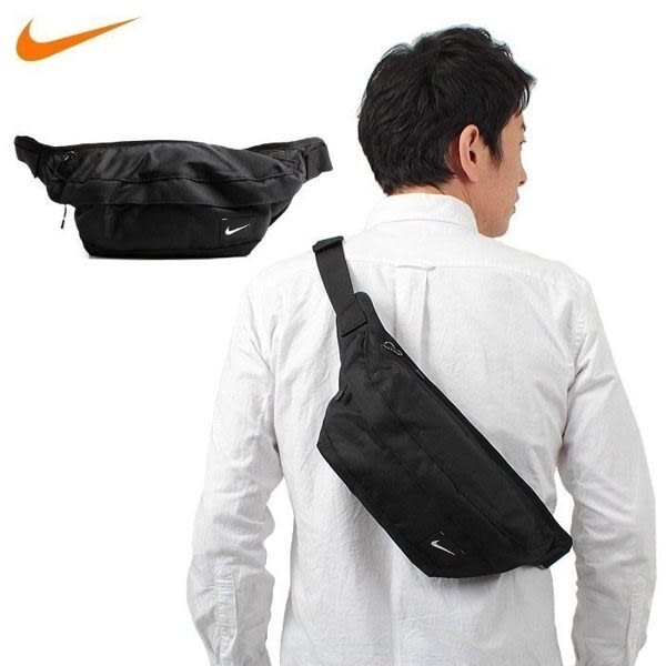 NIKE Bag 腰包 肩背 側背 黑色 黑白 霹靂包