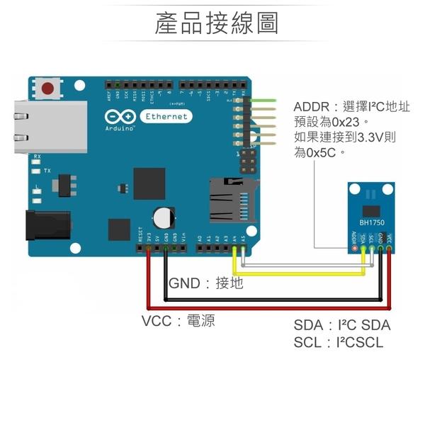 『堃邑Oget』BH1750FVI光感測模組 GY-30 適用Arduino、micro:bit、樹莓派 適合各級學校 課綱 生活科技
