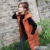 羽絨棉馬甲女中長款韓版潮 加厚寬鬆背心棉衣    傑克型男館