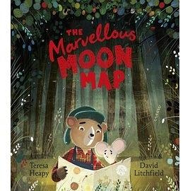 【麥克書店】THE MARVELLOUS MOON MAP /英文繪本《主題:溫馨情誼》