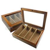 低調奢華 手錶收藏盒 配件收納  腕錶眼鏡皮帶收藏盒 4入收藏 實木質感 - 褐色 #815-4W-01-BR