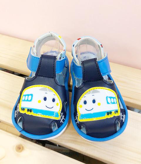 【震撼精品百貨】Shin Kan Sen 新幹線~台灣製新幹線正版兒童啾啾涼鞋-藍色(12.5~15號)