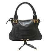 Chloe 克羅伊 黑色牛皮手提肩背包 Marcie Shoulder Handbag【二手名牌 BRAND OFF】