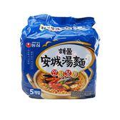 韓國 農心 海鮮風味安城湯麵(112gx5包)【小三美日】團購/泡麵
