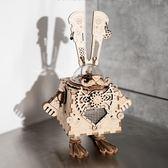 拼裝木質八音盒音樂盒創意diy手工玩具禮物男女【步行者戶外生活館】