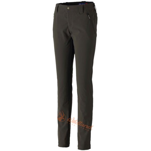 Wildland 荒野 0A32395-38墨綠色 女 RE彈性粗曠直筒長褲