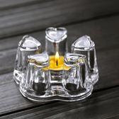 保溫底座大小號花茶壺茶杯玻璃加熱底座心形蠟燭臺簡約現代 220v 伊衫風尚