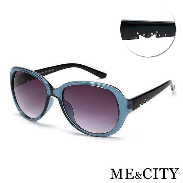 ME&CITY 精緻M字母鑲鑽太陽眼鏡 百搭時尚款 抗UV400 (ME 1215 F01)