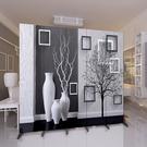 屏風 隔斷牆 客廳小戶型臥室現代簡約時尚折屏移動折疊雙面辦公室 支持客製化  降價兩天
