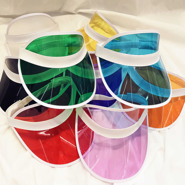 【TT】韓版百搭個性複古彩色透明遮陽帽 騎車運動空頂防曬沙灘帽