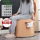 成人坐便器 可行動馬桶老人馬桶坐便器 家用孕婦舒適痰盂便攜式成人加厚尿桶 喵喵物語YJT