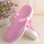 洞洞鞋女夏天外穿平厚底室內韓版果凍瑪麗珍沙灘鞋時尚防滑涼拖鞋  交換禮物