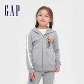 Gap女童 Gap x Disney 迪士尼公主系列連帽外套 614248-淺灰色