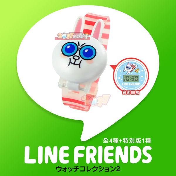 LINE FRIENDS 造型電子手錶 Part2 (全5款含隱藏兔兔) -純日本國內發售版- 扭蛋轉蛋