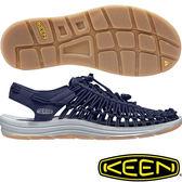 KEEN 1017032深藍 Uneek Round Cord男戶外護趾涼鞋 溯溪鞋/水陸兩用鞋/運動健走鞋/沙灘戲水拖鞋