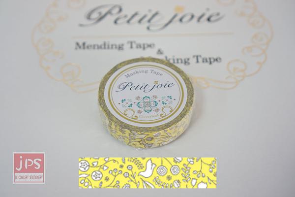 【NICHIBAN】 日絆 Petit Joie Masking Tape 和紙膠帶 花鳥 (PJMT-15S009)