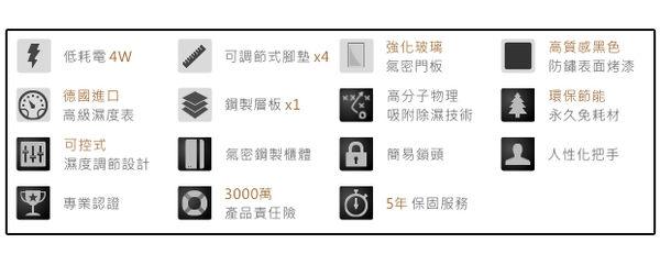 【防潮幫手】收藏家 81公升可控濕全功能電子防潮箱 AW-80  (長鏡頭/單眼專用/防潮盒)