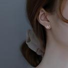 耳環 925純銀雙v字母w耳釘女2021年新款潮氣質2021耳環簡約冷淡風耳飾 晶彩 99免運