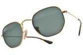RayBan 兒童太陽眼鏡 RJ9541SN 22371 (金-綠鏡片) 不規則感經典時尚 墨鏡 # 金橘眼鏡