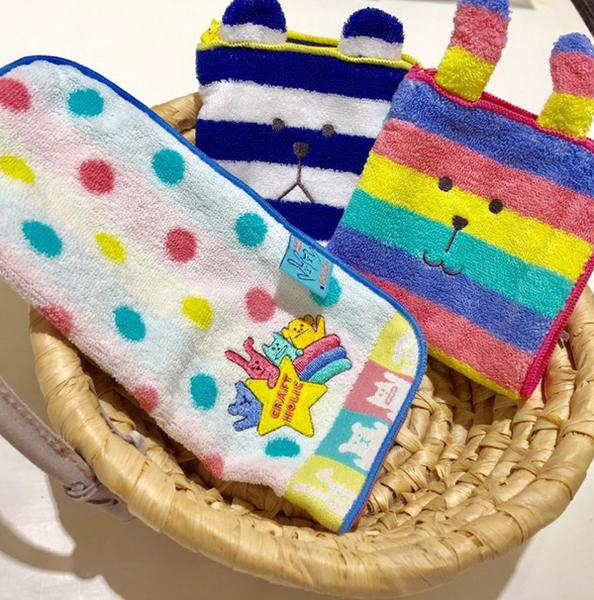 宇宙人 毛巾拉鍊收納袋 小方巾/毛巾/手帕 100%棉 craftholic 該該貝比日本精品 ☆