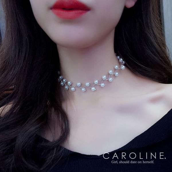 《Caroline》★韓國熱賣氣質項鍊 優雅浪漫風格時尚流行項鍊70072