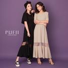 限量現貨◆PUFII-洋裝 裙拼接網紗短...